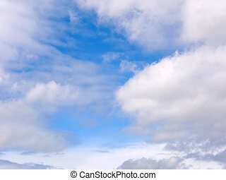 blue sky and  clouds - blue sky and white clouds