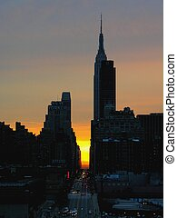 Metropolis - Manhattan and the Empire State Building at...