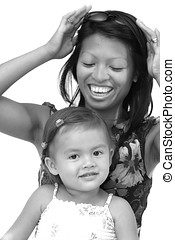Woman and child - Pretty philippine woman with her child