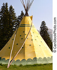 Banff Tepee - Tepee in Banff National Park, Alberta, Canada.