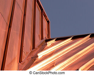 Copper Roof - Copper roof on store in Banff township, Banff...
