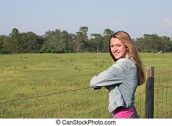 Friendly Farm Girl