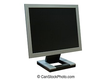 LCD monitor over white