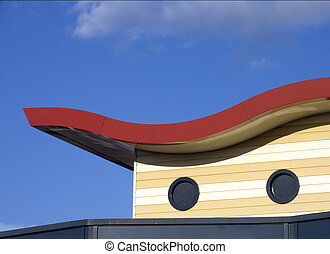 Modern roof detail, Leusden, Holland