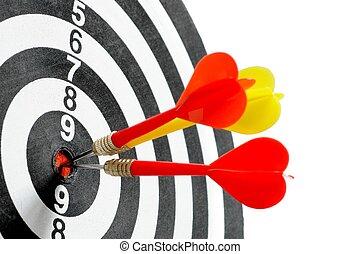 Target and three darts