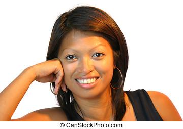 Pretty smile - Attractive smiling philippine woman