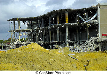 Demolished Building - Building Under Demolition