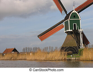 Dutch windmill 3 - Dutch windmill, Groot-Ammers