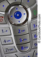 mobile phone keypad - Close up shot of mobile phone keypad