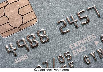 credit card - Macro shot of chip and pin credit card
