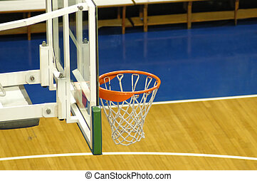 Basketball rim and board