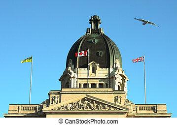 Legislature building in Regina, Saskatchewan, Canada