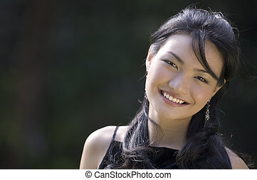 Outdoor Model 13 - A pretty young asian model with a great...