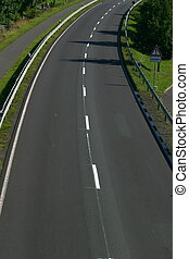 Road - Two lane paved road with curve