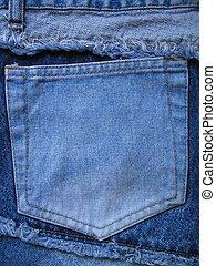 Jean pocket on back of pants.