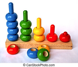 sorting toy - colorful wooden toy for sorting and counting