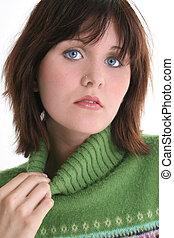 Teen Girl Green Eyes