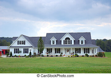 Farm House - A typical farm house in the country in the USA