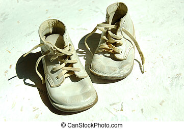 Baby Shoes - Vintage well worn baby shoes.