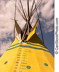Tepee Top - Top of tepee in Banff National Park, Alberta,...