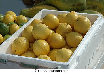 Lemons For Sale - Photographed lemons for sale at a local...