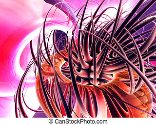 Tentacles - High res 3D abstract.