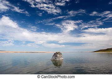 Rock, Abert Lake 2 - Photograph of Abert Lake in...