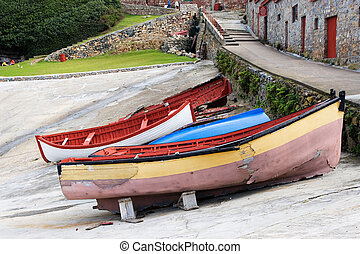 harbour #4 - Derelict boats on Hermanus Harbour, South...