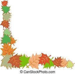 fall leaves border - fall leaves corner border