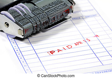 Paid - Ink Stamp and a Invoice