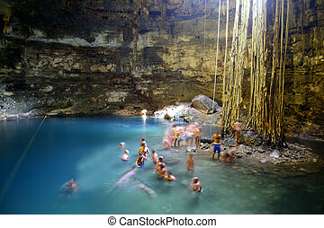 Cenote Cave in Mexico