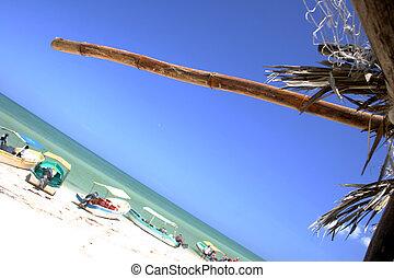 Beach Scene - Fishing village of Celestun, Yucatan, Mexico