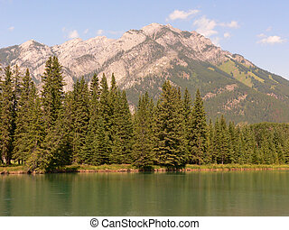 Banff, fjäll, flod