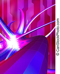 Digiform 2 - Abstract background merging 2d and 3d...