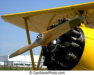 Flying veteran - Boeing Stearman PT27 Kadet - engine and...