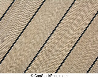 Teak Deck - Teak deck on a ship