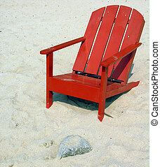 Deckchair on a mexican beach...