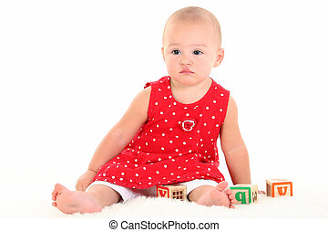 Baby Girl Toys - Beautiful Baby Girl with Stork Bite on...