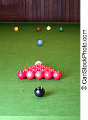 Snooker Balls - Snooker balls on a table