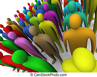 Multicolor crowd #2 - Multicolored crowd #2