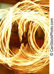 Fire Swirl - Swirling fire effect from long exposure of man...