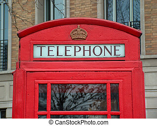 red telephone box - particular of telephone box in London