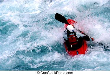 Kayak - a kayaker