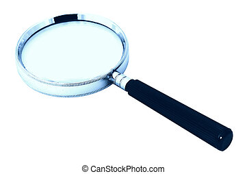 Magnifying Glass With Cyan Tone