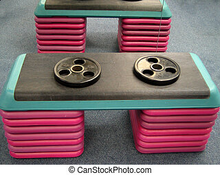 gym steps - weights and steppers at the gym