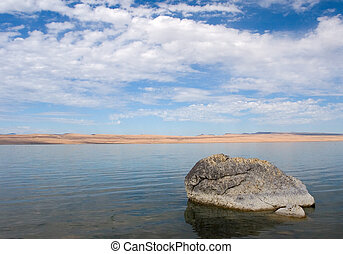 Rock, Abert Lake - Photograph of Abert Lake in South-Central...