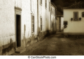Street Obidos - Photo of a street in Obidos, Portugal. done...
