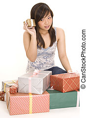 What's Inside? - A pretty young asian woman tries to guess...