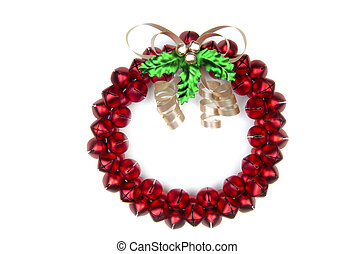 Sleighbell Wreath - A cheery Christmas sleighbell wreath....