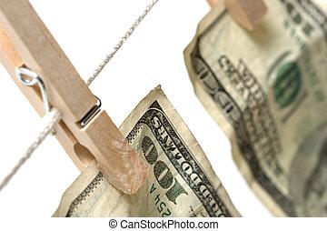 money laundering over white